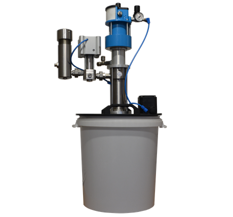 Cold glue feed unit with pump from Reuther-Systems