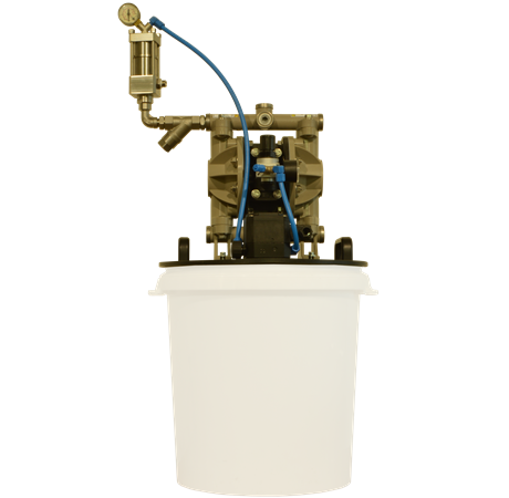 Diaphragm pump for cold glue application system